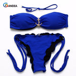 BANDEA New Summer Style Girl Beadeau Anchor Navy Swimwear Sexy bikini brazilian Swimsuit Women Biquinis Bathing Suits HA869
