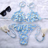 BANDEA summer style  Swimwear Printed Bikini Halter swimsuit women swimsuit bathing suit bikini brazilian maillot de bain HA838