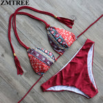 ZMTREE Bikini Set 2017 Summer Swimwear Women Biquinis Sexy Beach Swimsuit Bathing Suit Push up Brazilian Bikini Maillot De Bain