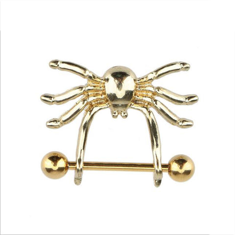 2pcs 14G Sexy Nipple Ring 316L Surgical Steel Spider Mamilo Rings Barbell Nipple Bar ring Body Piercing Jewelry For Women Gift