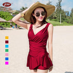 Disassembly Chest Pad Irregular Skirt Style One Piece SPA Swimsuit Swimming Suit Sexy Bikini Underwear Swimwear Summer Clothes