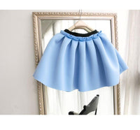 Neoprene new space cotton elastic force high waist skirts pleated skirt women skirt saia polychromatic casual