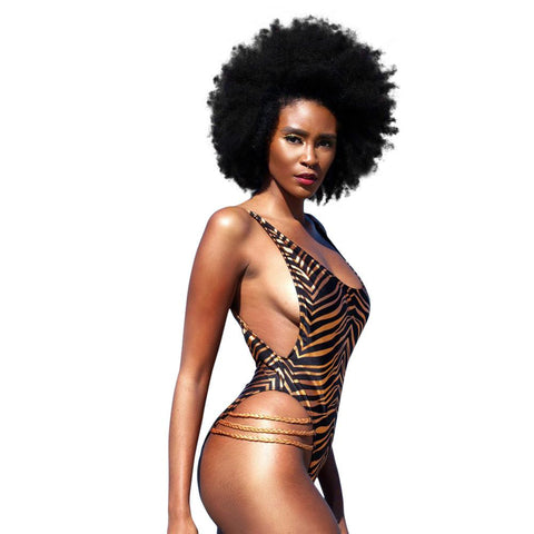 One-piece Swimwear Female 2017 African Print Swimsuits Striped Monokini Beach Thong Bathing Suits Swiming Suit Plavky M-2XL