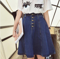 New Arrival Denim Skirts Womens a-line jeans front button skirt women knee-length  jean skirt