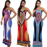 Women Summer Maxi Dress  Bodycon Party Dresses Plus Size Vestidos Sexy Sundress Backless Bandage Dashiki Boho Long Dress