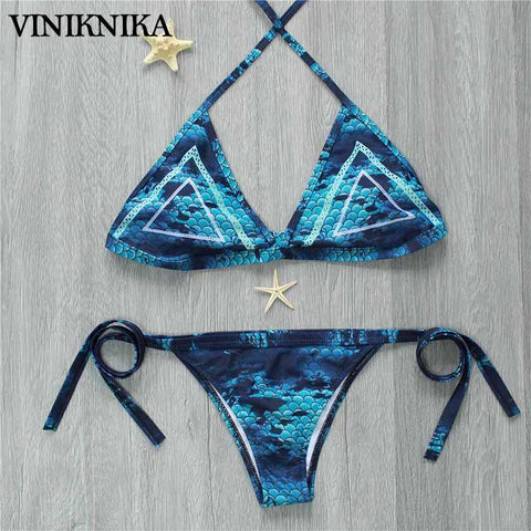 VINIKNIKA Brand Brazilian Bikini 2017 Swimwear Swimsuit Women Sexy Printing Bikinis Set Swimming Bathing Suit Beachwear Summe