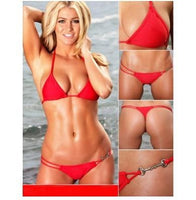 White/Black/Red Fling Thong Bikini Sexy Swimwear Swimsuit Tankini Bikini Top Womens Mini Micro Bikini Lingerie Set