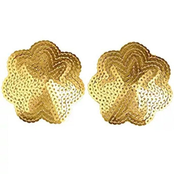 2pcs Women Sexy Nipple Cover Sequin Gold Star Exotic Pasties Breast Nipple Cover Bra Pasties Pad