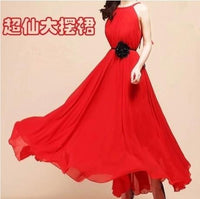 Fashion Chiffon Maxi Dress Elegant Ladies Wear Long Dress sexy white beach bohemian dress young women dresses
