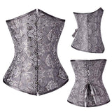 Women's Sexy Underbust Waist Trainer Corset Bustier Body Shapewear Lace Up Waist Training Embroidery Plus Size Corselet TYQ