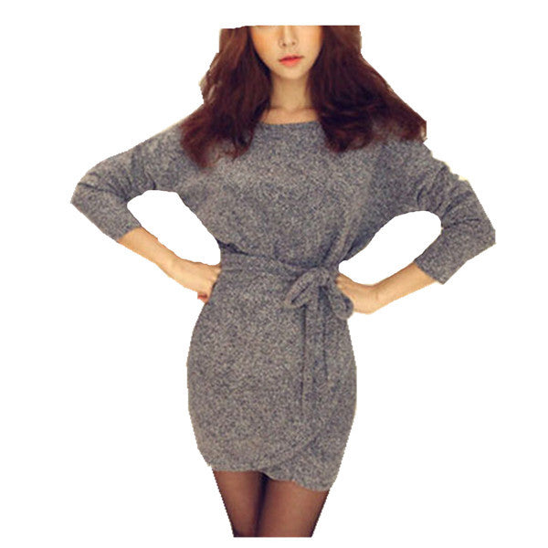 Zanzea Fashion Sexy Women Dresses Bodycon Dress Long Sleeves Slim Knitting Mini Dress Tunic Winter European Style Vestidos