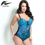 2018 summer Plus Size Swimwear Women One Piece Swimsuit Padded Beachwear Monokini women Bathing Suits Large Bust Swimsuits