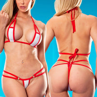 2018 Exotic Sexy Sunbath Micro Bikini Set Beach Sheer Swimming Lingeries Costome Swimwear Female Extreme Women G-String Swimsuit