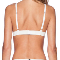 Mesh Bralette Sexy Bralet Triangle Bra Embroidery Crop Top  Wireless  Brassiere Strappy Intimate