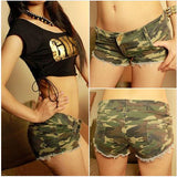 Sexy Womens Camouflage Jeans Short Shorts Hot Shorts Denim Low Waist Daisy Dukes Trousers Denim