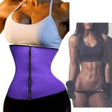 Women's Waist Training Corsets Black Sexy Women Slimming Body Shaper Zipper Zip Latex Waist Trainer Waist Cincher Corset