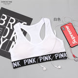 2018 VS Secret Pink Wireless Bra Tops Push Up Padded Seamless Bralette Brassiere Sexy Lingerie Crop Top Sutian Bralet Women