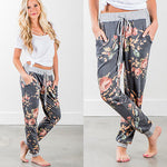 Womens Lady Loose Casual  Harem Pants Jogger Dance HipHop Slacks Trousers Ladies Women Flower Pant Print Clothing