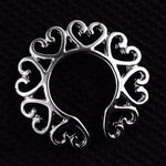 1Pair Surgical Steel Non Piercing Clip On Nipple Fashion Body Jewelry Nipple Rings Heart Design Ring Shield