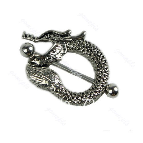 5pcs/lot Surgical Steel Vintage Dragon Body Piercing Barbell Nipple Ring Shield Bar Y106
