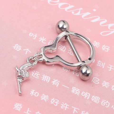 2018  handcuffs hot milk ring earrings nipple piercing BODY JEWELRY pendientes  piercing orelha cartilagem joyas aretes