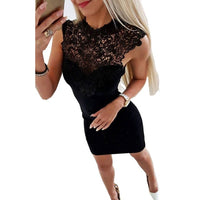 New Brand Women Sexy Lace Bandage Bodycon Slim Dress Clubwear Evening Party Sleeveless Sheath Short Dress S-XXL
