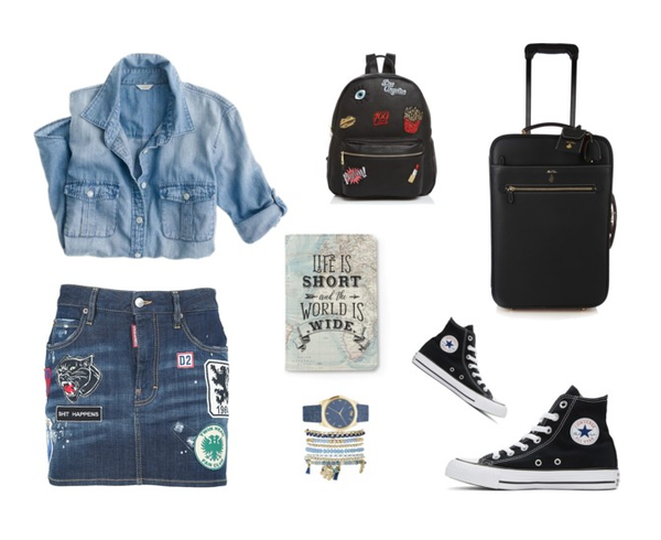 Denim on Denim: Airport Outfit
