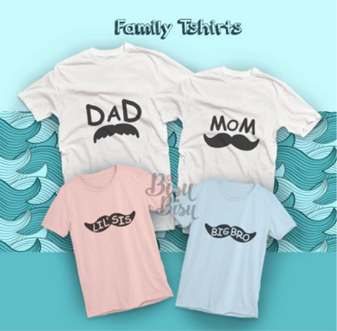 Choosing A Set Of Family T Shirt As Birthday Gift For Mother So The Whole Can Wear When Hanging Out Downtown