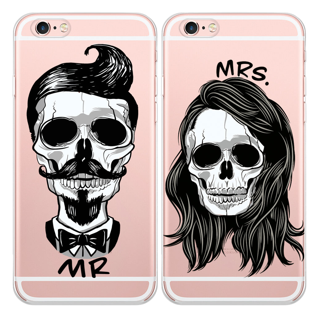separation shoes 7b077 3f35c Skull Couple Phone Cases