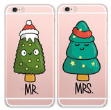 Christmas Pine Chibi Couple Phone Cases