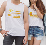 Moon Sun Couple Tank Top