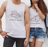 Wherever You Go Sneakers Couple Tank Top