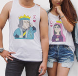 King Queen Poker Card Couple Tank Top