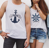 Nautical Couple Tank Top