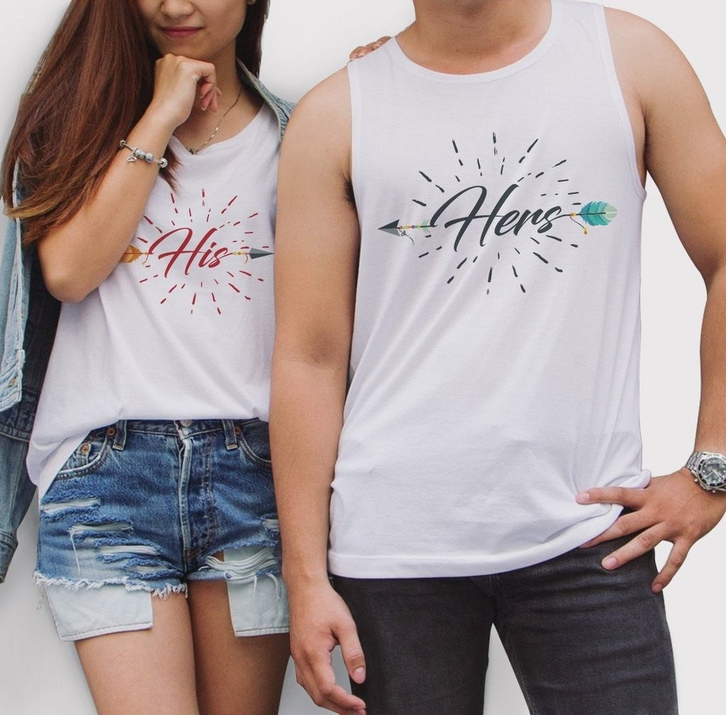 His Her Couple Tank Top