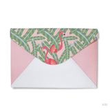 Flamingo Envelope Clutch