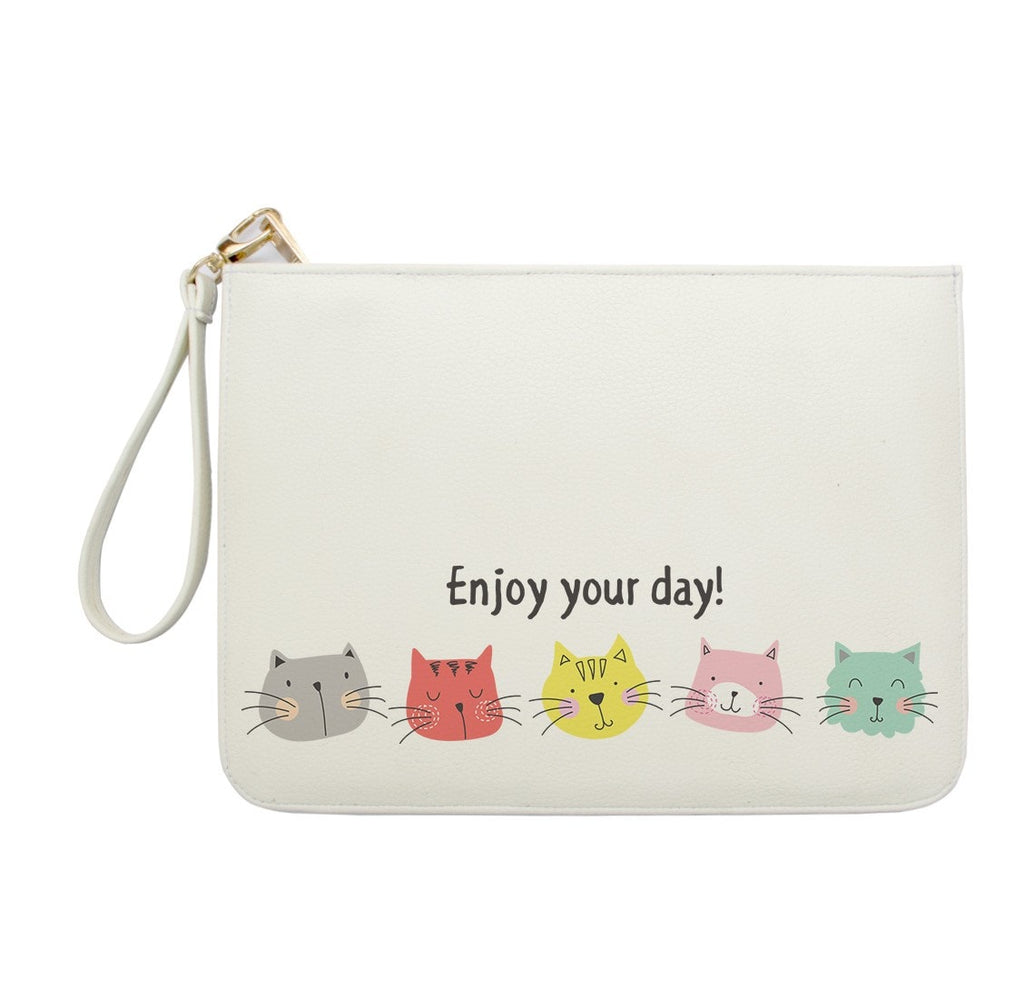Enjoy your day Cute Cate Clutch