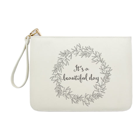 3 Colors Customized Monogram Clutch