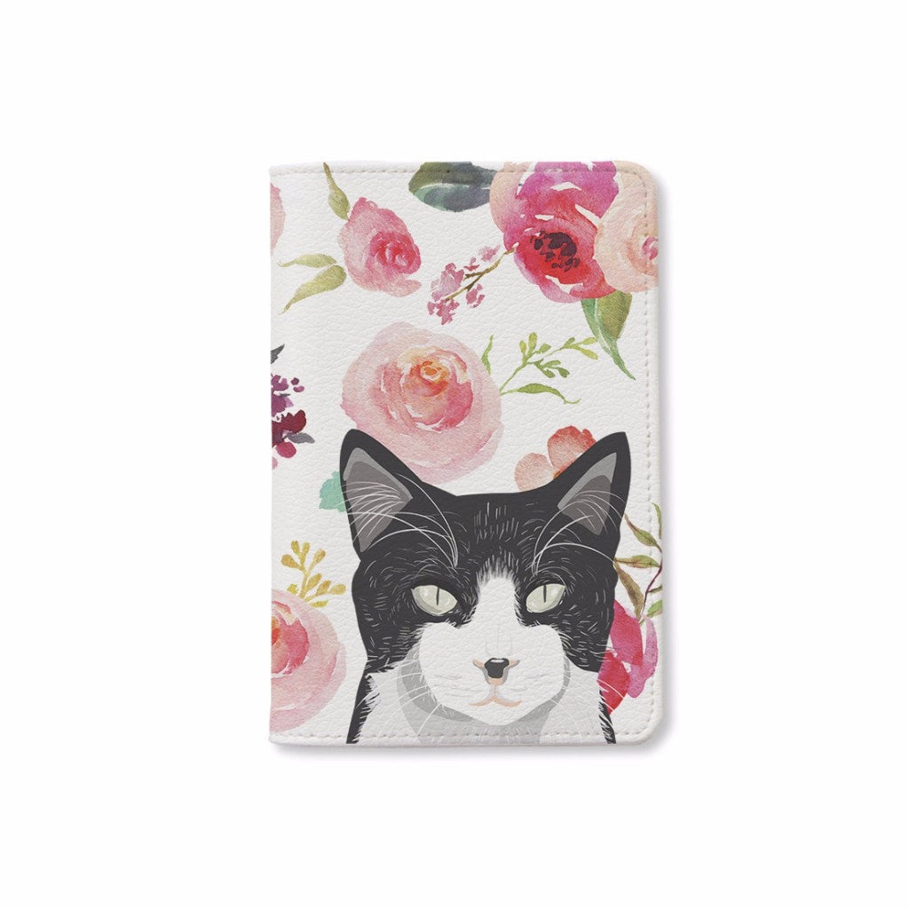 Floral Cat Passport Holder