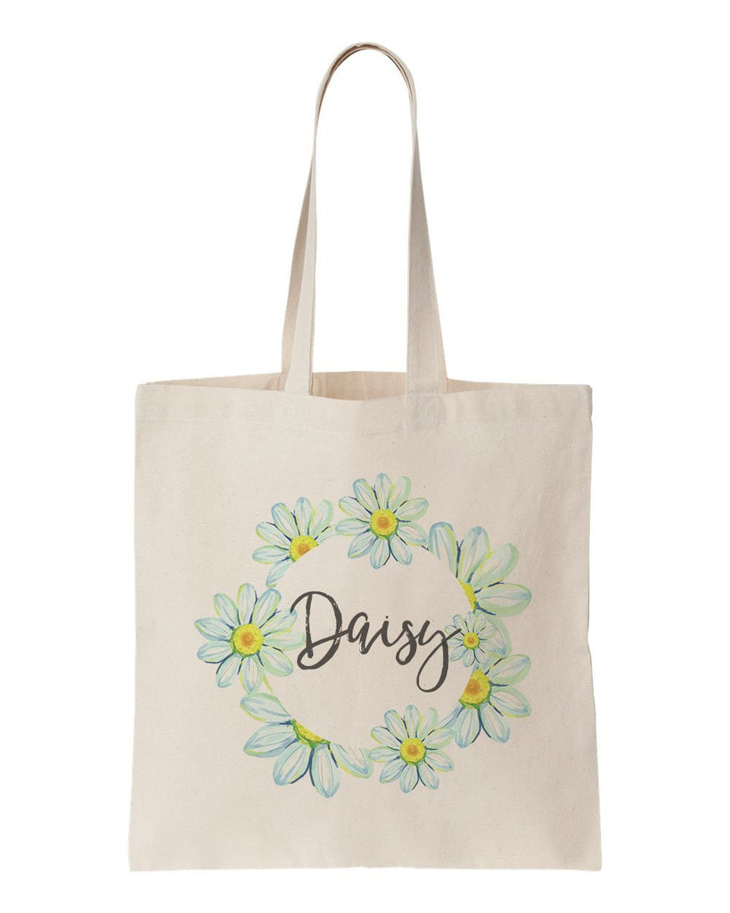 Floral Quote Tote Bag (Daisy)