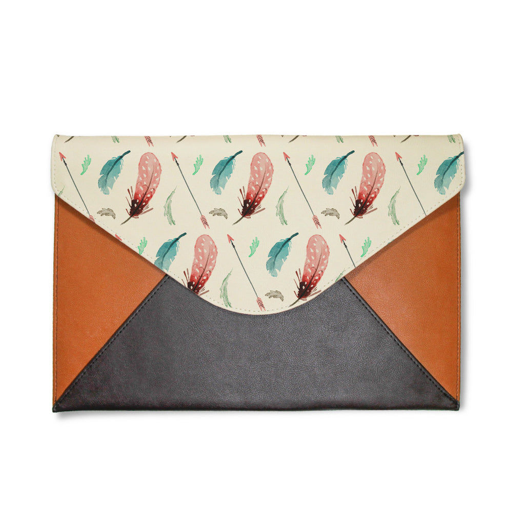 Feathers And Arrows Envelope Clutch