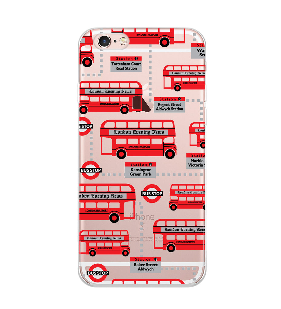 Red Bus Cartoon Phone Case