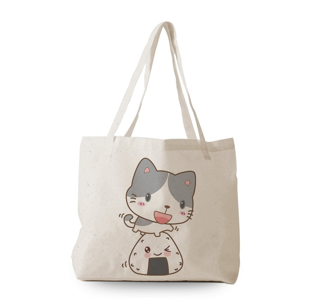 Onigiri and Cat Tote Bag