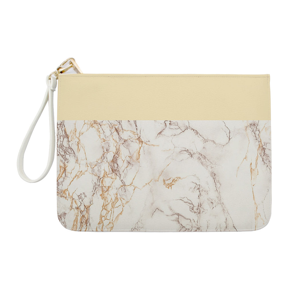 Yellow & Golden Marble Clutch