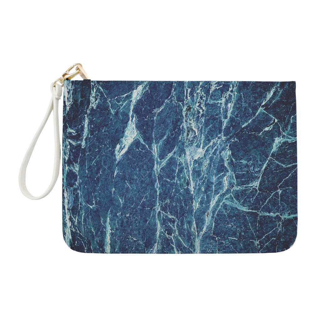 Dark Blue Marble Clutch