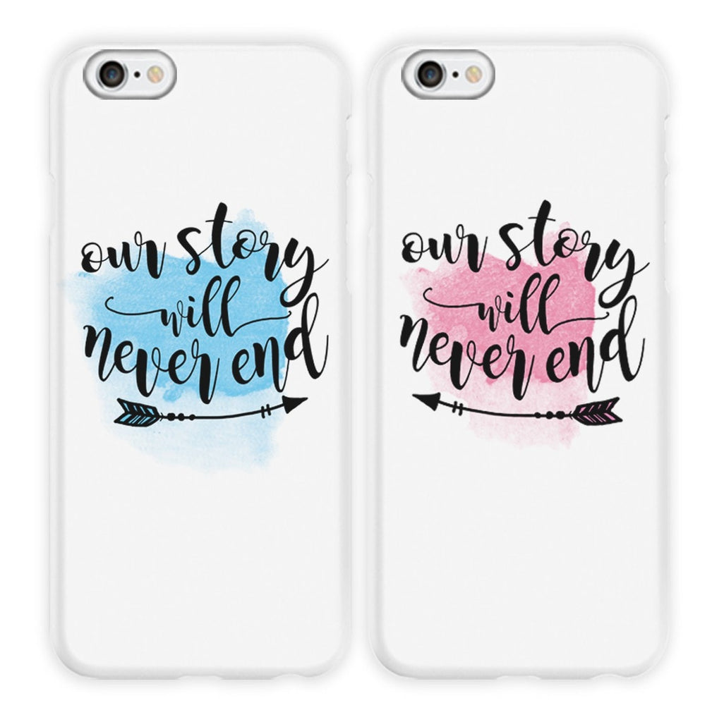 Our Story Will Never End Couple Phone Cases