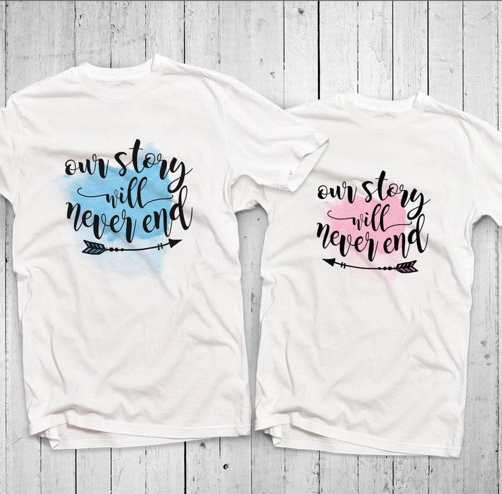 Our Story Will Never End Couple T-Shirt