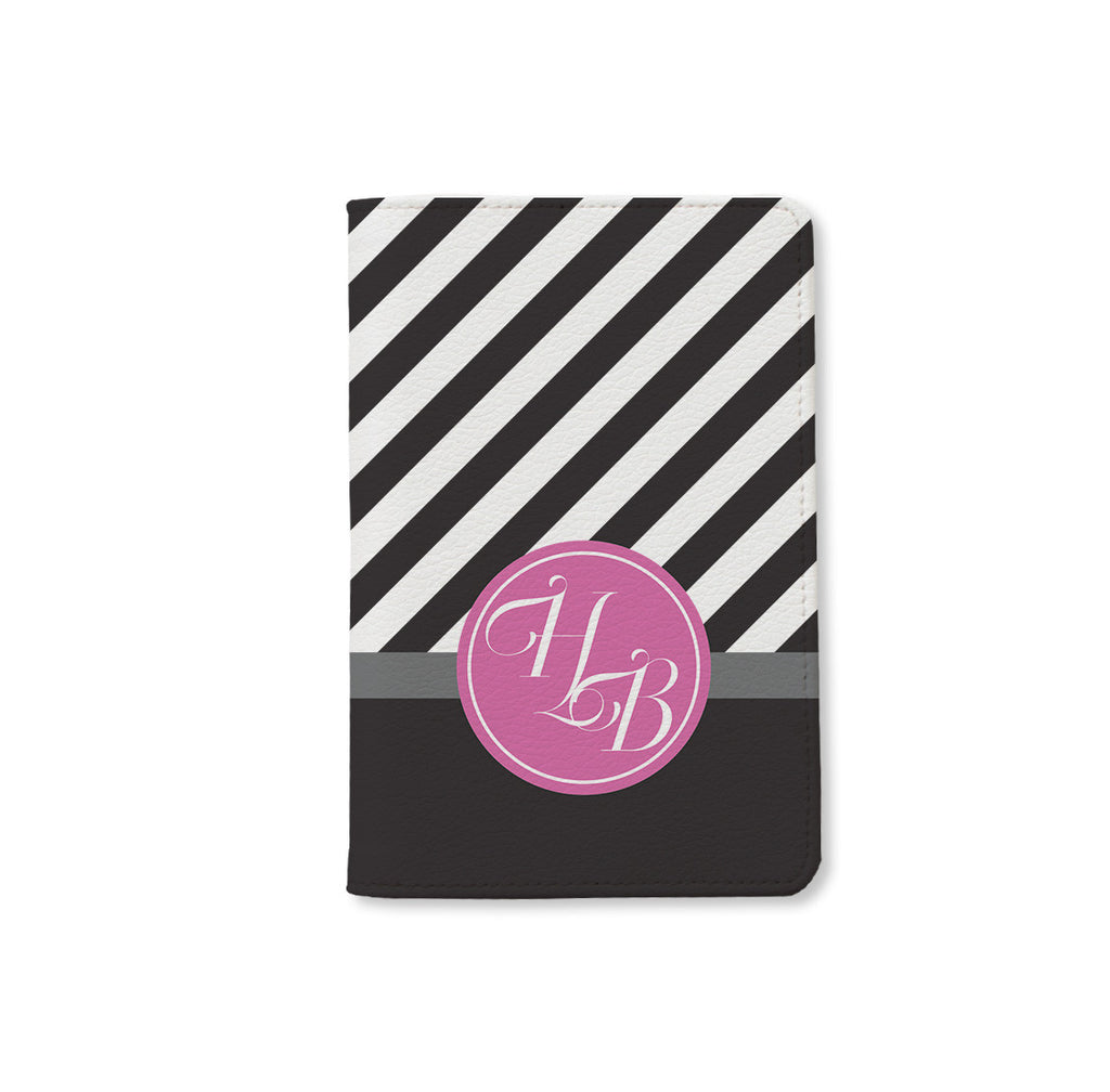 Black & White Monogram Passport Holder