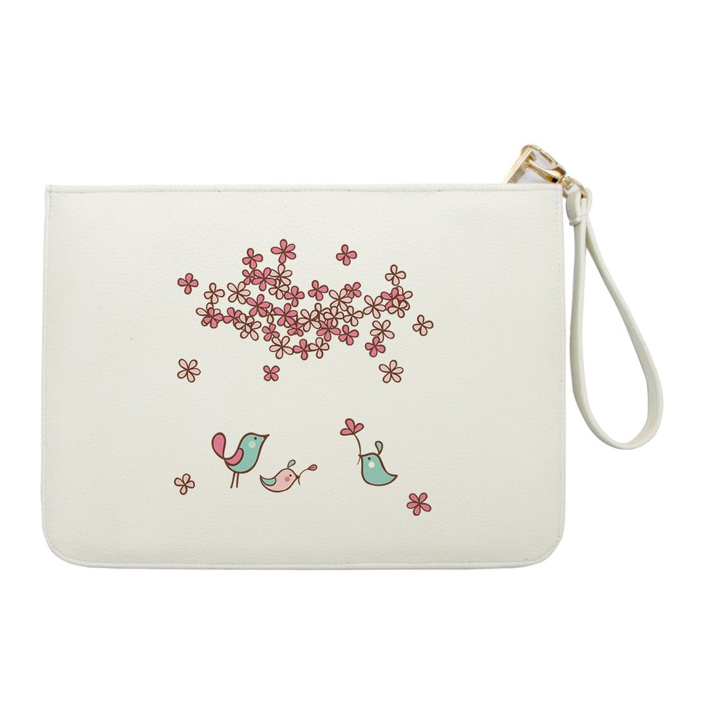Little Bird and Flowers Clutch
