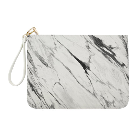 Black Lava Marble Clutch